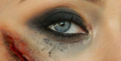 Макияж на Хеллоуин. Как сделать рану или порез на лице