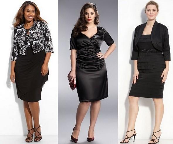 Черное платье футляр для полных женщин фото