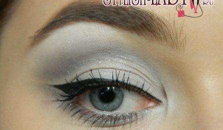 Простой повседневный макияж глаз в серых тонах