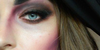Простой вариант макияжа ведьмы на Хеллоуин