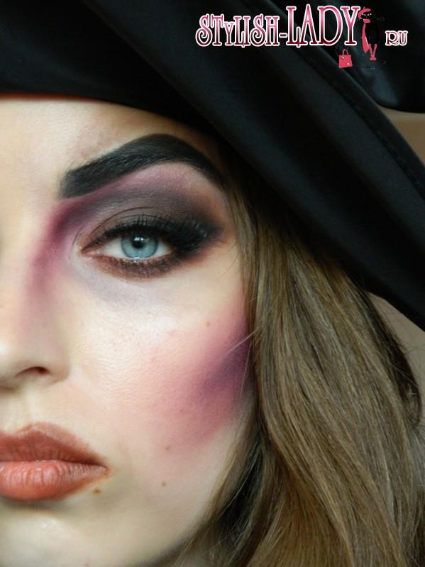 макияж ведьмы на хеллоуин, фото
