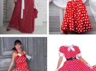 Модное платье в горошек: белое, красное, синее, черное!