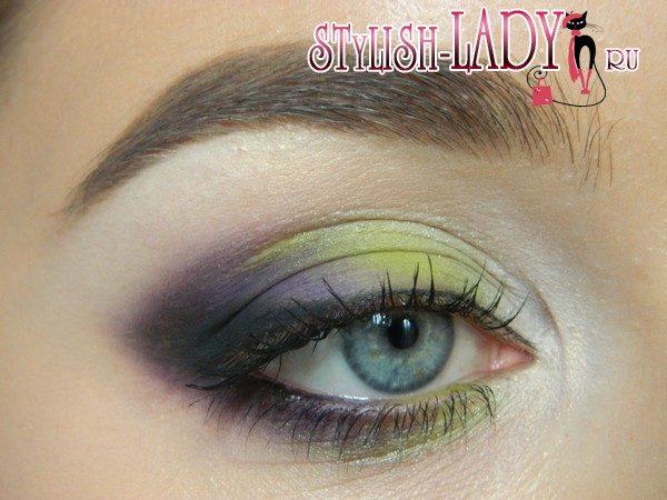 оливковый макияж глаз, фото