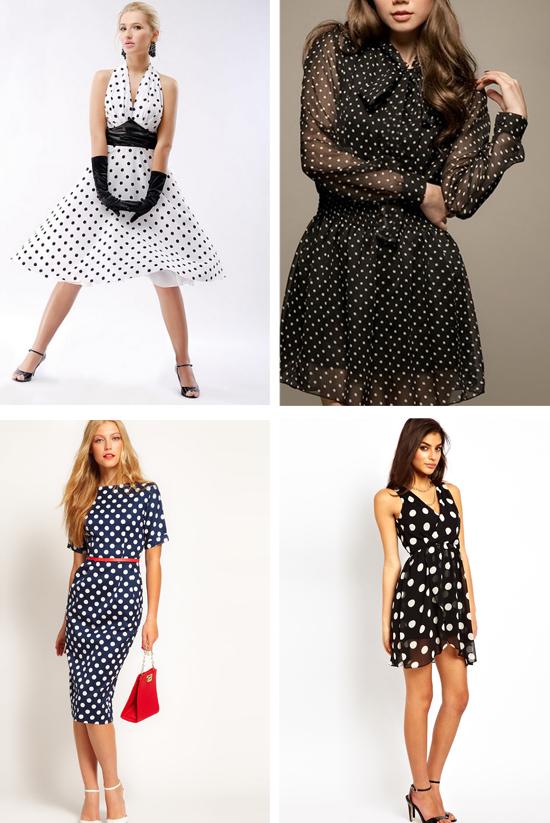 Мода платье в горошек