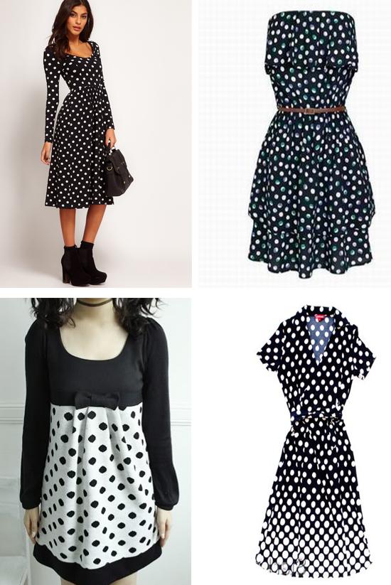 Платья в горошек фасоны и фото