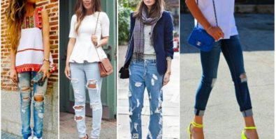Что надеть с рваными джинсами? Составляем модный «лук»