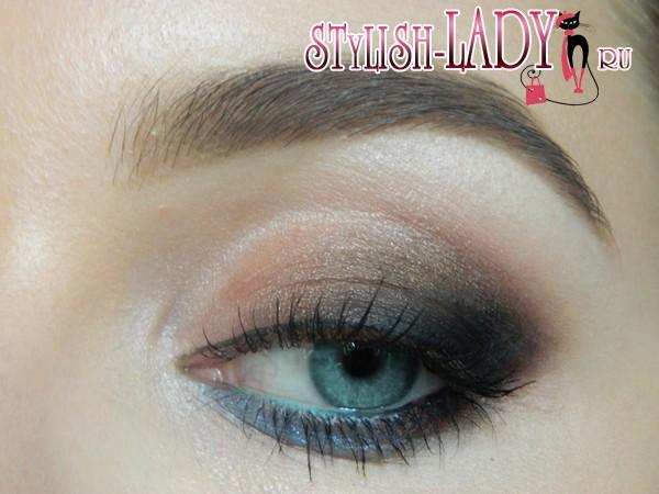 макияж в коричневых тонах, фото