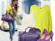 Страсть фиалки: фиолетовая сумка с чем носить?…
