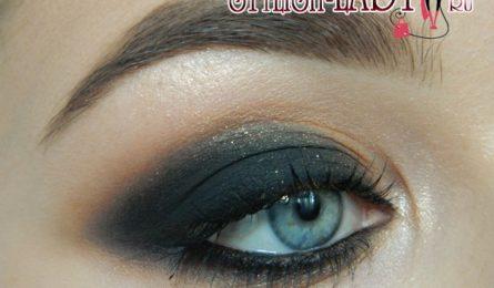 Как сделать макияж (смоки айс) с черными тенями. Новогодний вариант