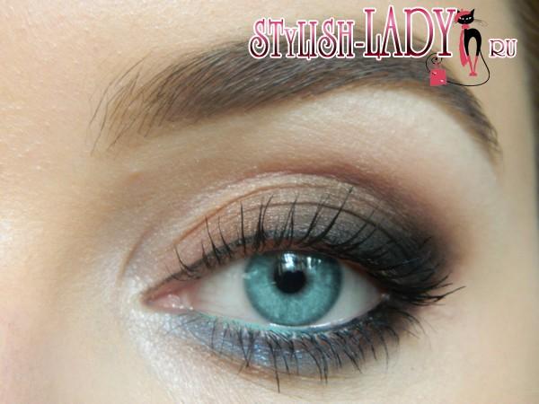 коричневый макияж глаз, фото