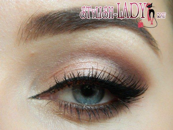Макияж глаз на выпускной с накладными ресницами, фото