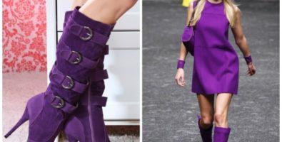 Обувь фиолетового цвета — с чем ее носить?