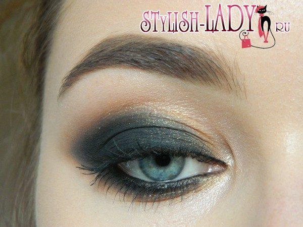 черный макияж глаз, фото