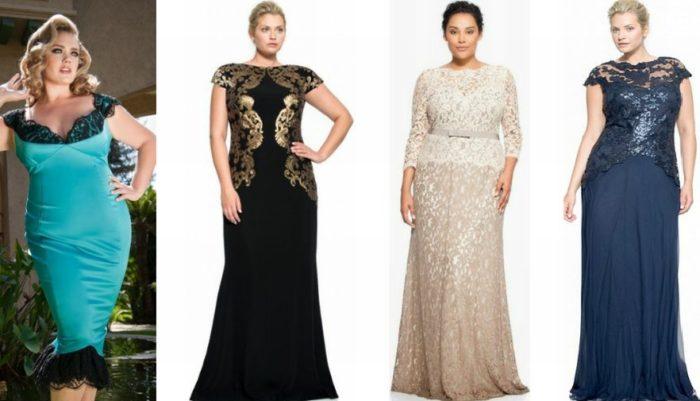 8594a932a8e Идеальное вечернее платье для полных дам можно