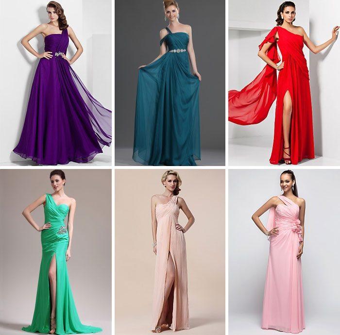 Платья в пол однотонный цвет