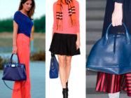 Модный аксессуар — синяя сумка. С чем её носить?