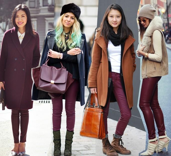 0f0df84a8fc С чем носить бордовые джинсы  Модные сочетания