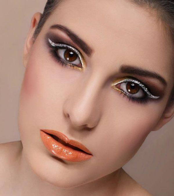футуристический стиль макияжа, фото