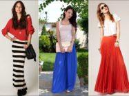 Длинные летние юбки: модные модели и фасоны