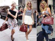 Королевский цвет — с чем носить бордовую сумку?…