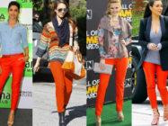 Искусство сочетать. С чем носить оранжевые брюки или джинсы?