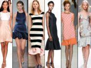 Шумит волна… Модные платья с воланами