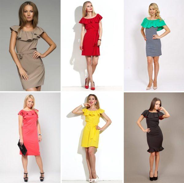 Модное платье с воланами фото