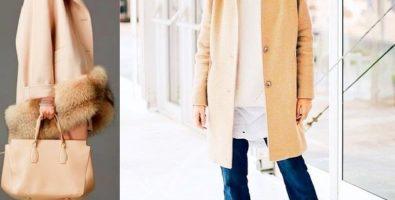 Нежный беж зимой – скука или элегантность? С чем носить бежевое пальто, пуховик, дубленку или шубу?