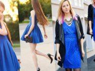 Что надеть с синим платьем: выбираем украшения и аксессуары
