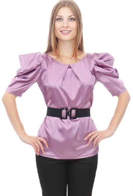 Модели блузок из атласа