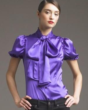 Фасон блузки из атласа