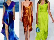 Шурша шелками и туманами… Модели платьев из шелка