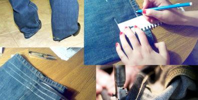 Три способа, как правильно подшить (укоротить) джинсы