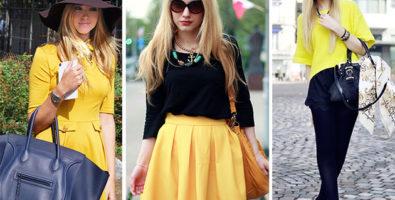 Желтая одежда: с чем носить, как сочетать?