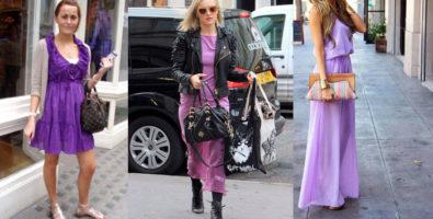 Аксессуары и бижутерия к фиолетовому платью