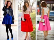 Модная юбка колокол — примеры стильных сочетаний