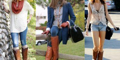 С чем носить коричневые сапоги? Модные советы