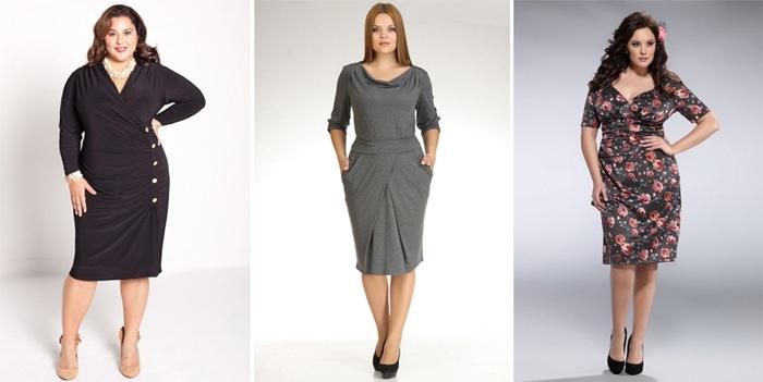 Платье футляр для полных новые модели сезона