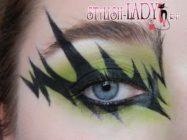 Макияж глаз на Хеллоуин «Молния»