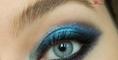 Как сделать интенсивный смоки айс в синих тонах для встречи Нового года