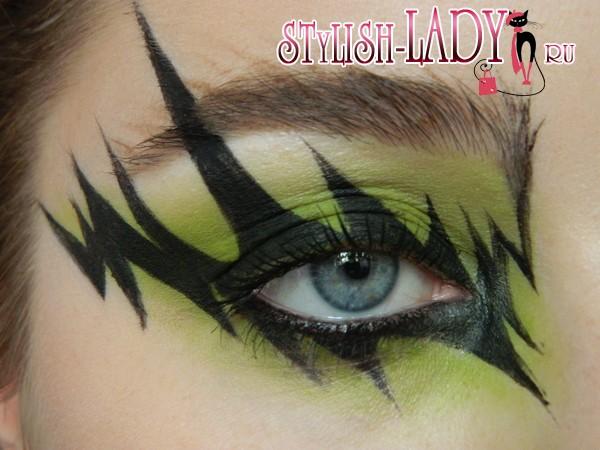 макияж глаз молния, фото