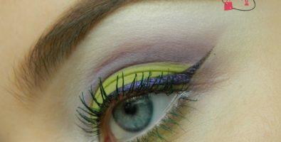 Яркий макияж глаз на лето для светлоглазых