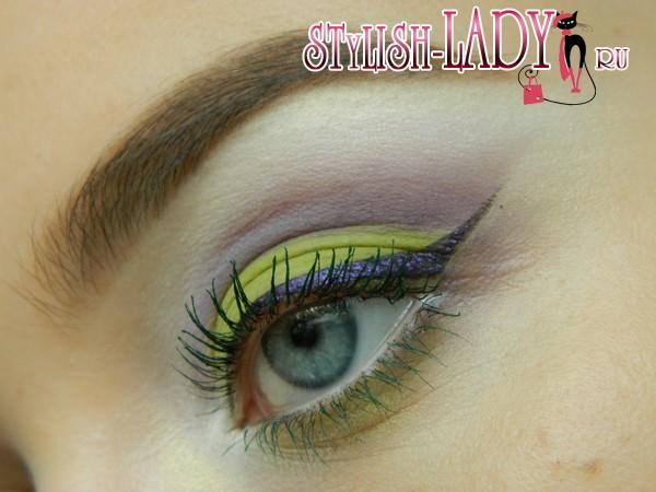 летний оливковый макияж, фото