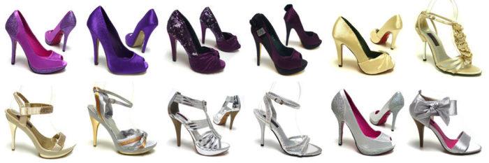 Обувь к фиолетовому платью