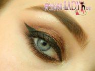 Стильный макияж глаз с бронзовыми тенями