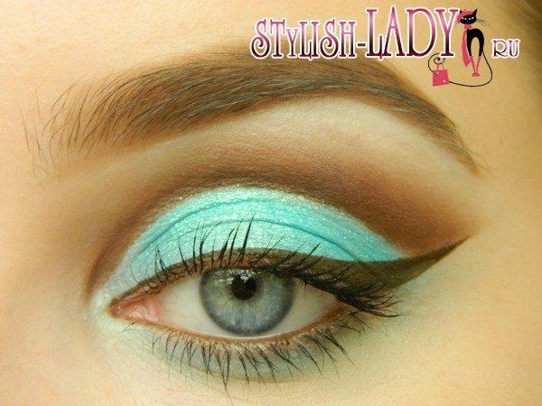 бирюзовый макияж, фото