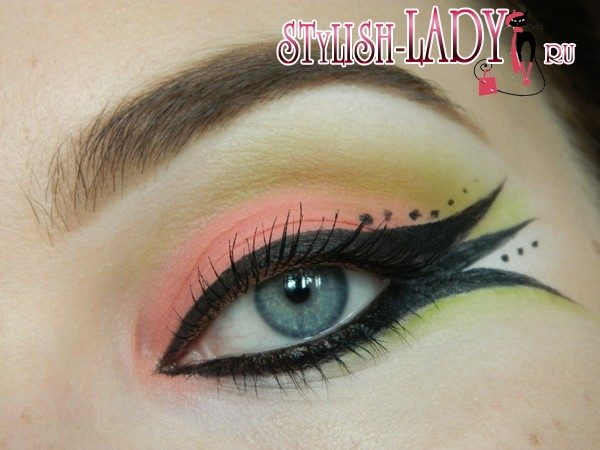 макияж глаз рыбка, фото