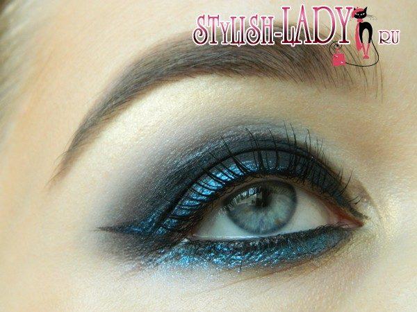 макияж глаз на новый год, фото