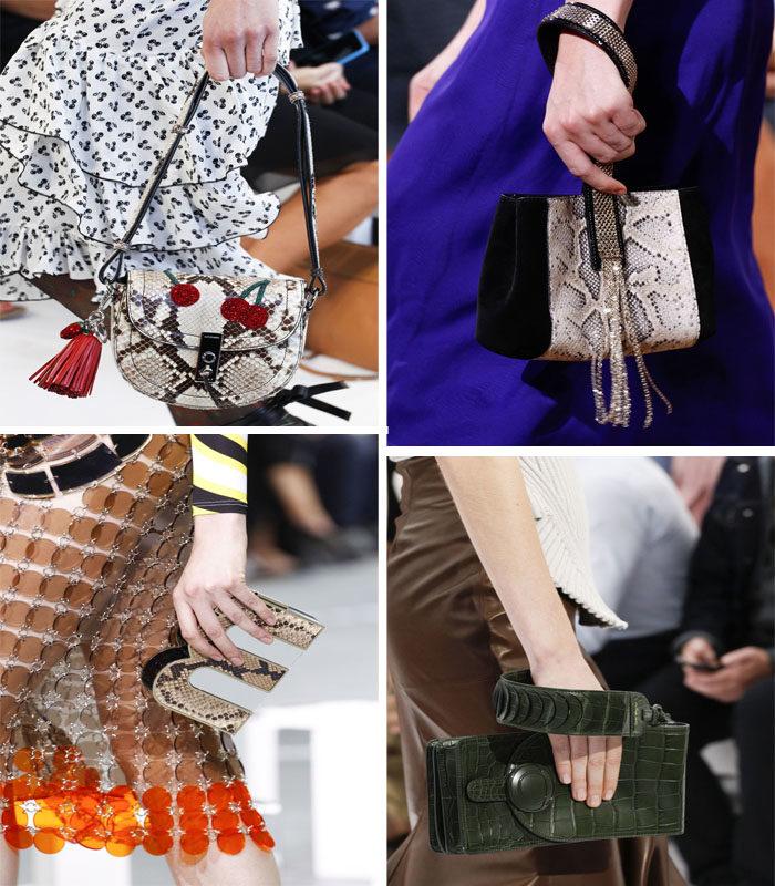 модные сумки с змеиным принтом, фото