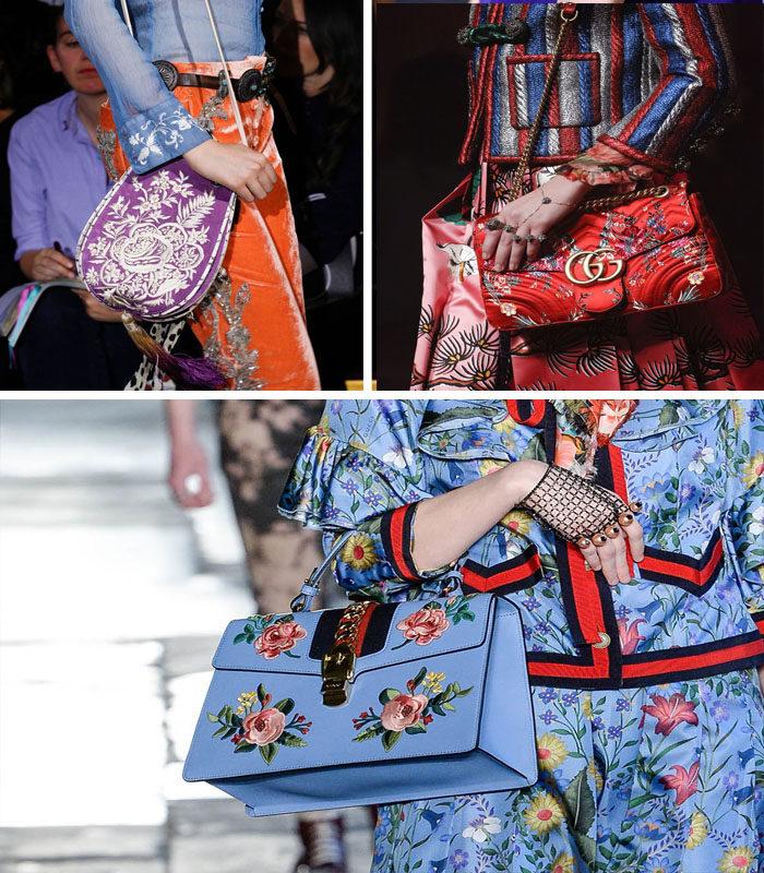модные сумки с цветочным принтом, фото
